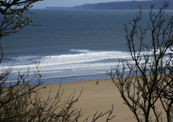 Filey bay in                                 winter